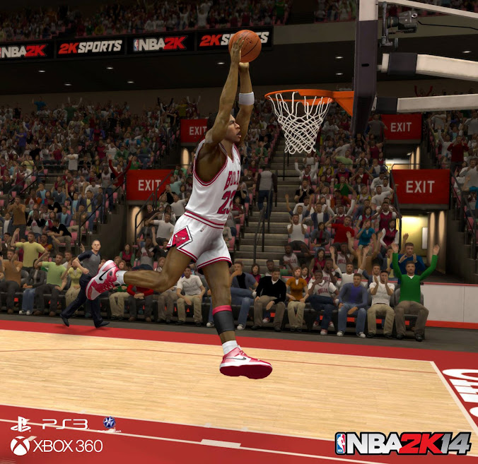 Legends are Back in NBA 2k14 - Michael Jordan Dunk Screenshot NBA 2k14