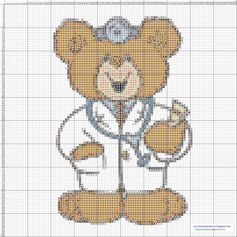 Dibujos de oso panda de punto de cruz imagui - Punto de cruz bano ...