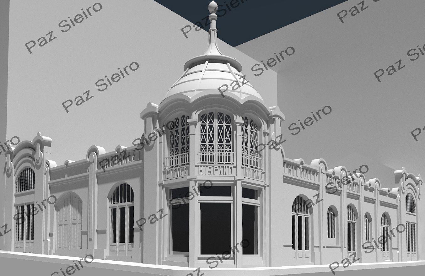 Works 3d edificio chevrolet garaxe hispano americano - Arquitectos ourense ...