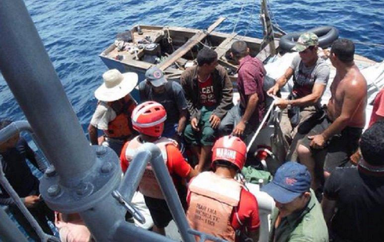 Balseros rescatados