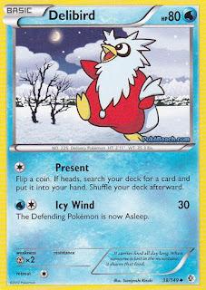 Delibird Boundaries Crossed Pokemon Card
