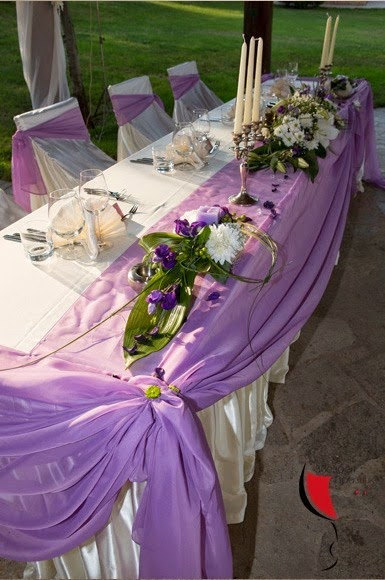 сватбена украса на маса