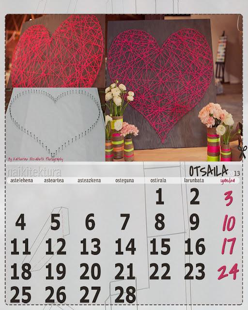 página de mes de febrero