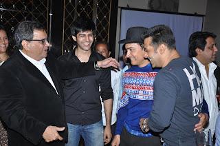 Salman and Amir Khan grace the Subhash Ghai birthday bash