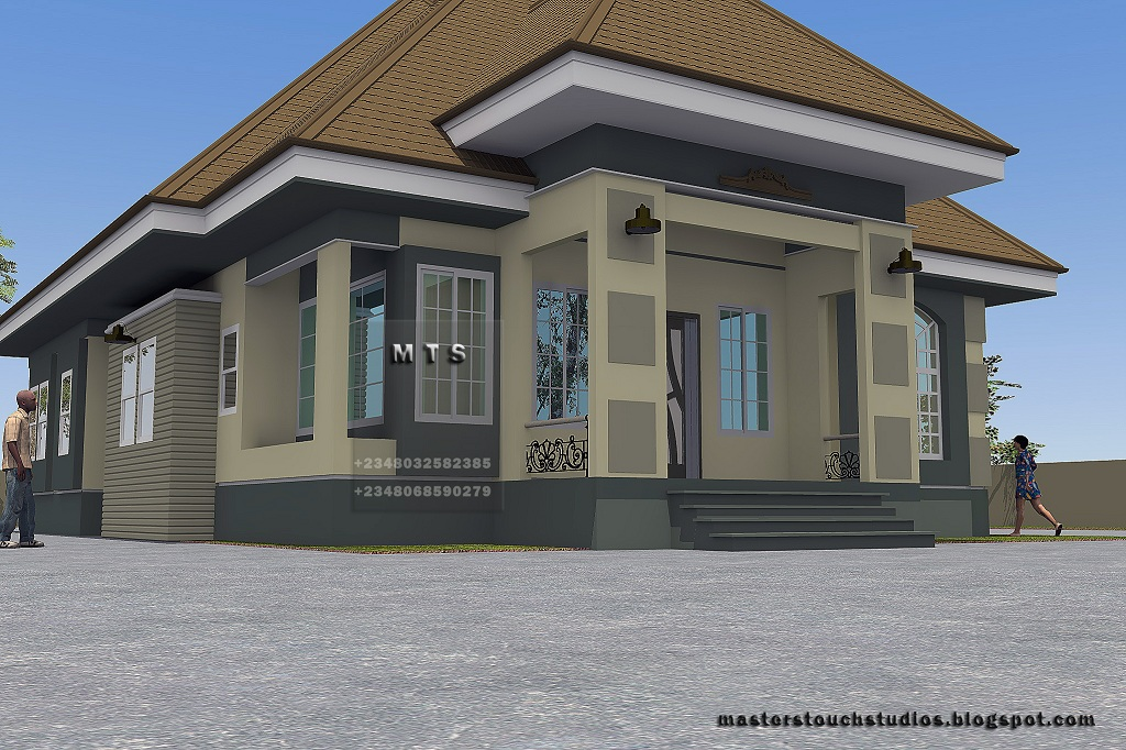 4 bedroom bungalow plan structure modern house for Four bedroom bungalow