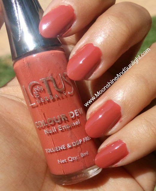 Lotus Colour Dew Nail enamel in Brownie Glaze (84) Swatch and Review