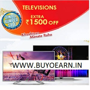 Snapdeal: Televisions Extra Rs. 1500 off on Rs. 25000, Rs. 4000 off on Rs. 45000