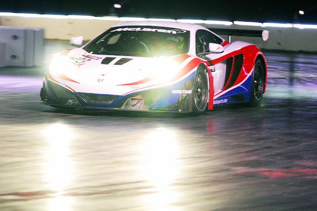 United Motorsports McLaren MP4-12C GT3 in action in the Autosport International Live Action Arena