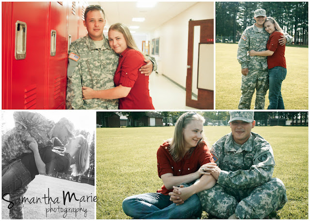 army couple at school where the met