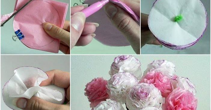 Beautiful tissue paper flowers crazzy craft for Creative tissue paper ideas