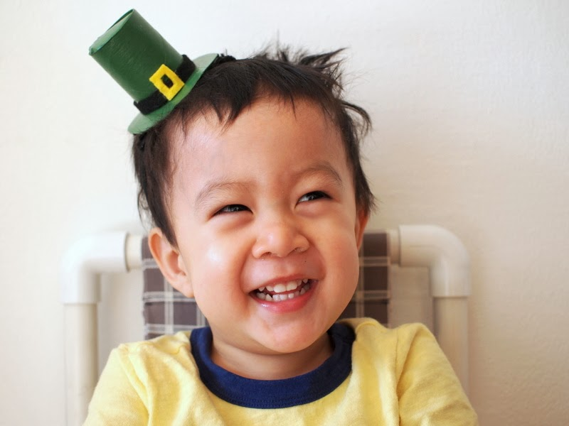 Leprechaun Hat Headband DIY from Toilet paper Roll