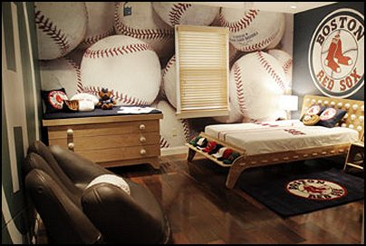 baseball bedroom decorating ideas - baseball bedroom decor - boys baseball  theme bedrooms - Baseball Room
