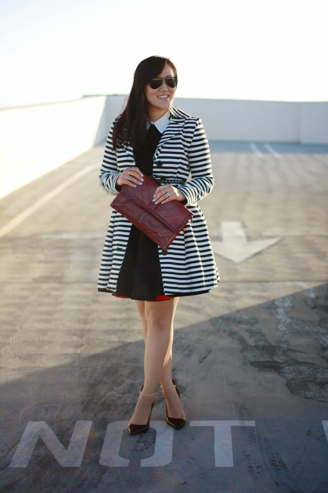 simplyxclassic, orange county blogger, fashion blogger, striped trench coat, fashion week, OCFW