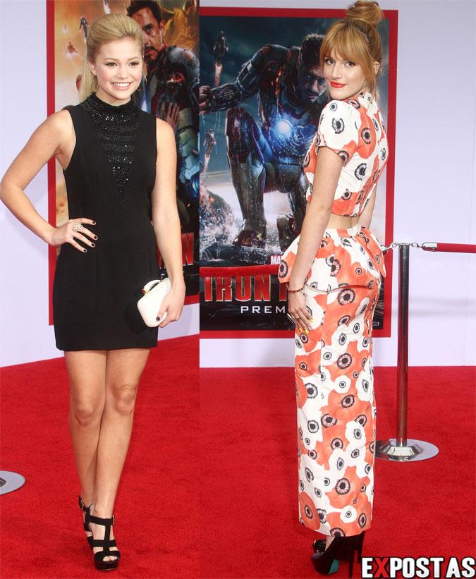 Bella Thorne e Olivia Holt: Première de 'Iron Man 3' no El Capitan Theatre em Hollywood - 24 de Abril de 2013