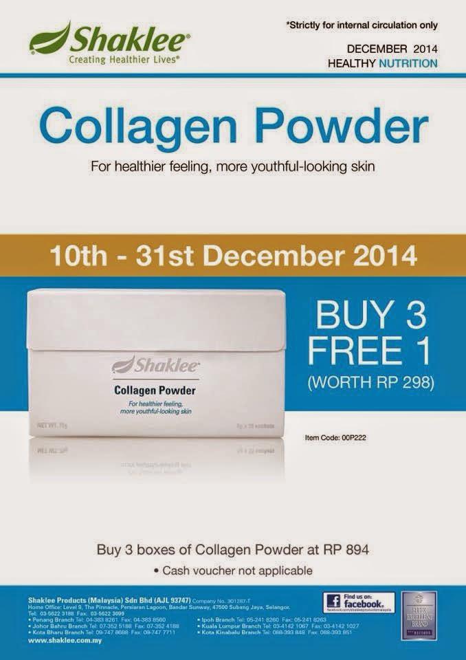 promosi collagen powder shaklee