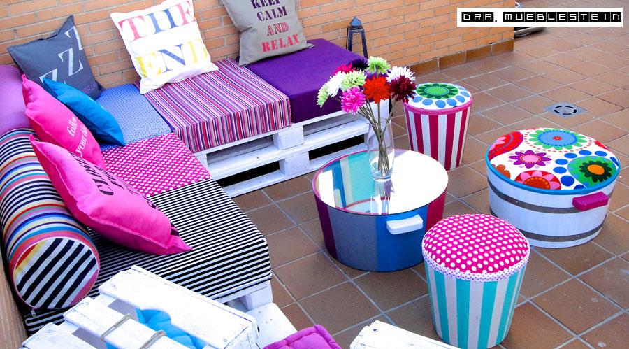 Reciclar reutilizar y reducir decora tu terraza con palets for Manualidades con palets paso a paso