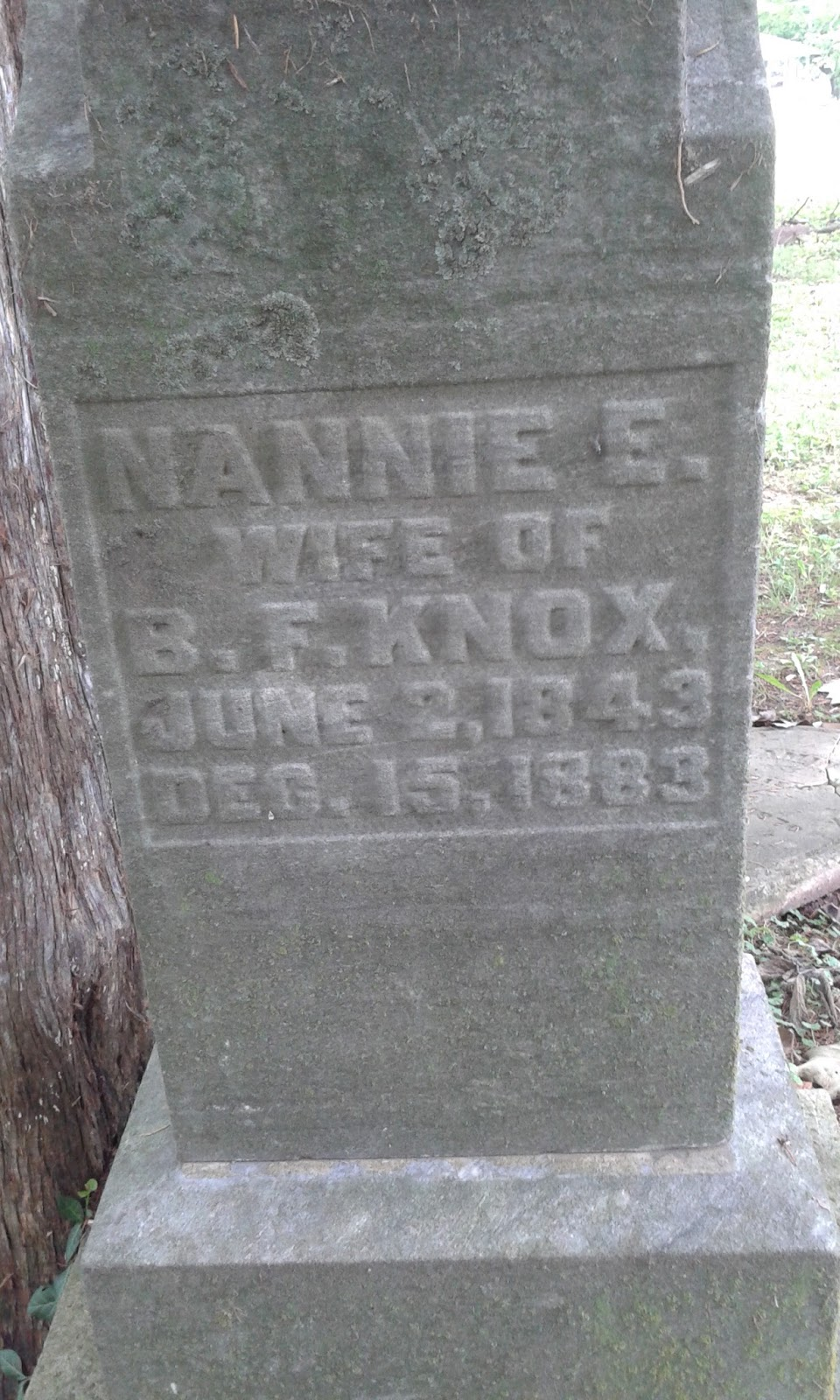 Indiana knox county ragsdale - He Was Married To Nancy E Fesler Knox 1843 1883 They Were Married On November 3 1864 She Is Buried Near Him In Old Baptist Church Cemetery
