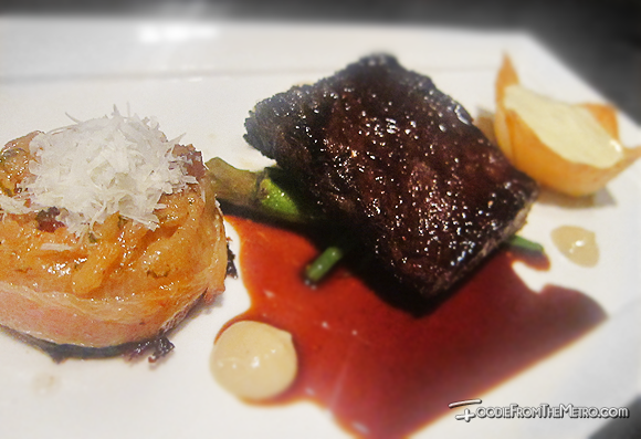 Foodie from the Metro - Opus Restaurant and Lounge Sous Vide Aged U.S. Beef Short Ribs Dish