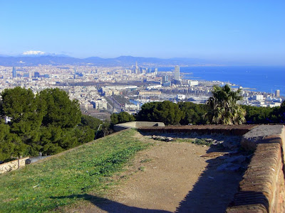 Barcelona from Montjuic Castle