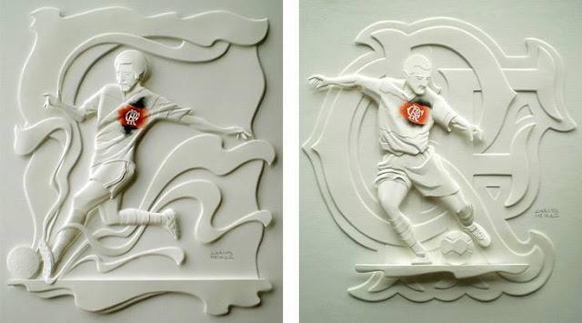 Esculturas de papel por Calor Meira