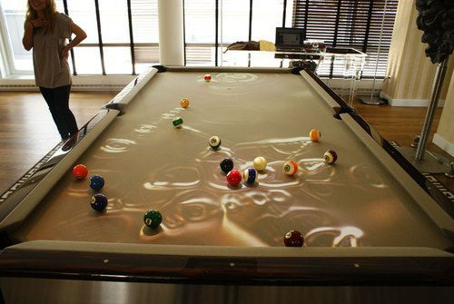 Super punch augmented reality pool table for 10 in 1 pool table