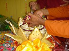Relíquias de Budha sob o trono no Tardö Ling