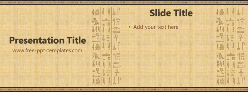 egyptian ppt template free powerpoint templates