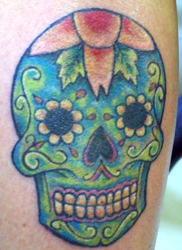 The present trend of artists day of the dead skull tattoos for Day of the dead skull tattoo