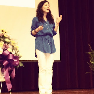speaking at women's conference in Ullin, iL