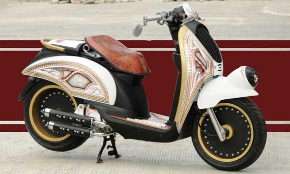 modifikasi honda scoopy minimalis Modifikasi Honda Scoopy Bergaya title=