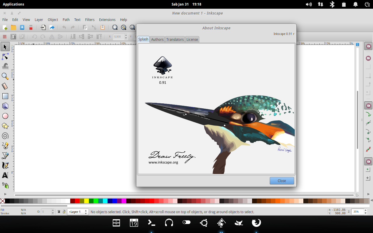 Tutorial Upgrade Inkscape ke Versi 0.91 di Ubuntu