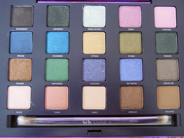 Urban Decay Vice 2 palette eye shadows