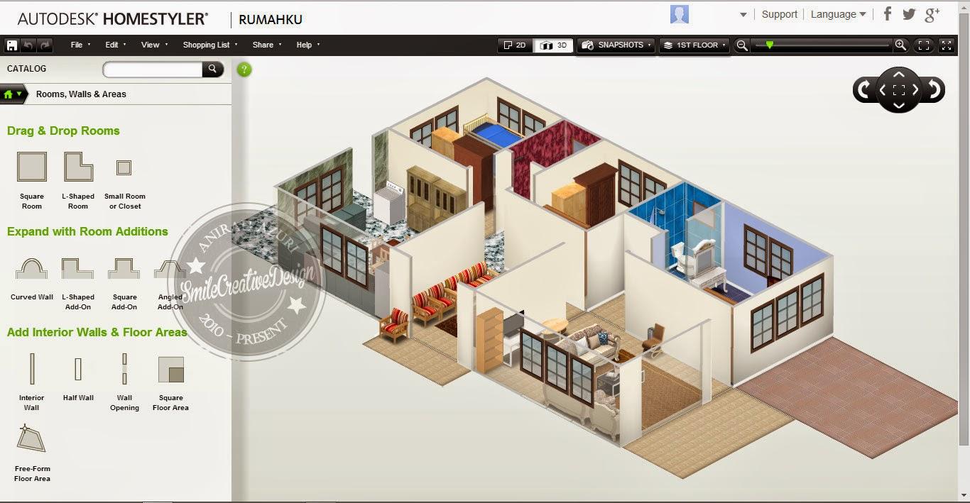Idea Deko Rumah Dengan Perisian Autodesk Homestyler