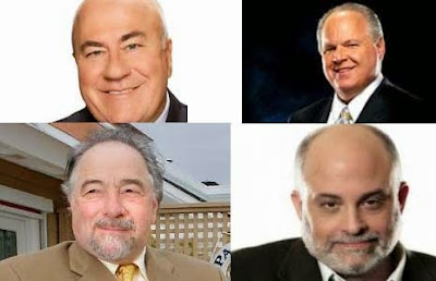 Rush Limbaugh, Michael Savage, Mark Levin, Frank Beckman