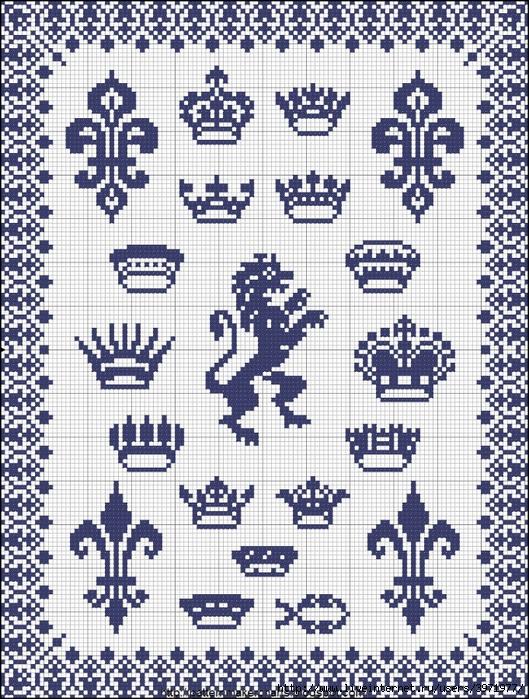 Darmowe wzory do haftu - Crown