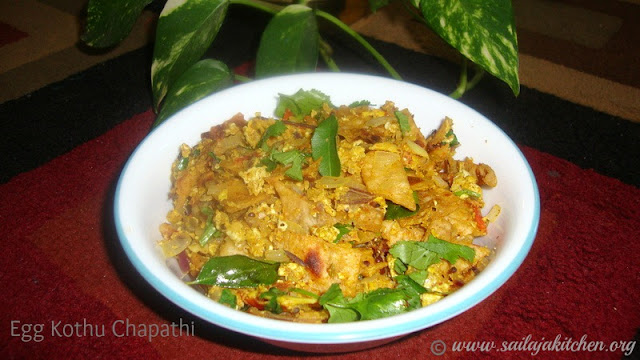 images of Quick Egg Kothu Chapathi Recipe / Muttai Kothu Chapathi Recipe