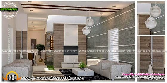 Living Room Interior Design In Kerala Kerala Home Design