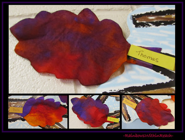 photo of: Fall Leaves from Coffee Filters (Fall RoundUP via RainbowsWithinReach) 