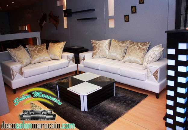 Salon marocain moderne bahae blanc for Salon moderne blanc