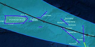 Tropischer Sturm Erika Sturmwarnung
