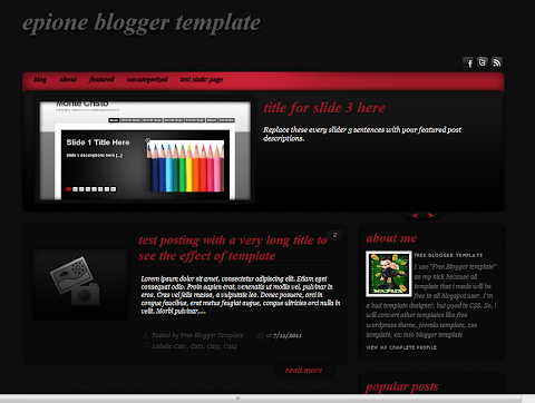 Epione Blogger Theme