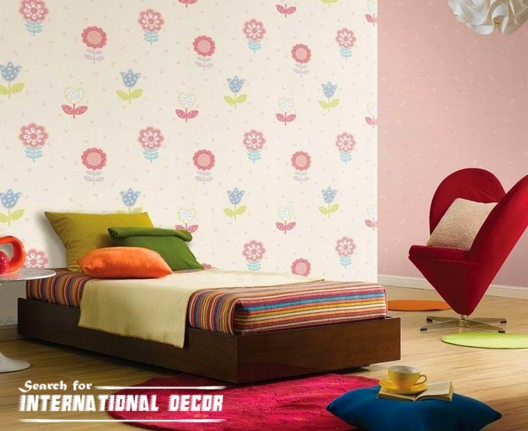 childrens wallpaper,nursery wallpaper, girls wallpaper