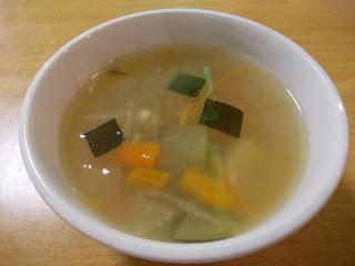 Winter Melon Soup that comes with Cold Charcoal Noodles Salad