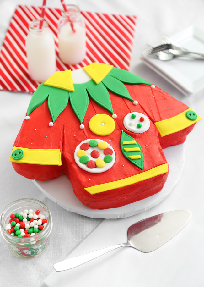 Ugly Christmas Sweater Cake Sprinkle Bakes