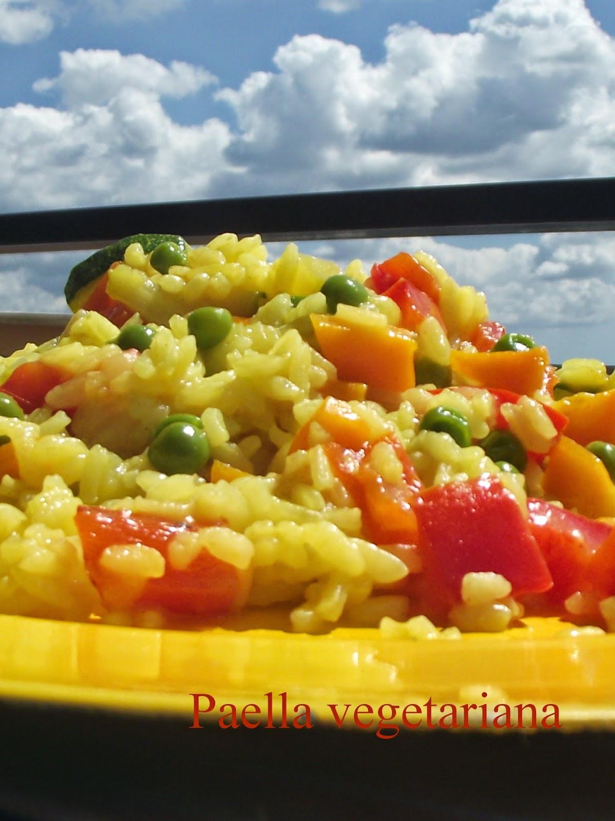 la paella vegetariana...ovvero quando la paella finisce nell'orto