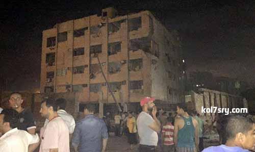 """أسماء المصابين فى انفجار مبنى """"الأمن الوطنى"""" بشبرا الخيمة"""