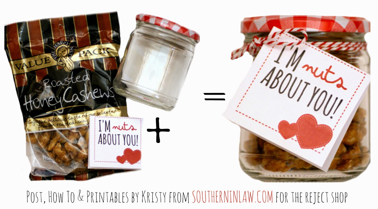 I'm nuts about you Valentines Gift Idea - Punny Valentines Gift Ideas Free Printable Valentines Cards