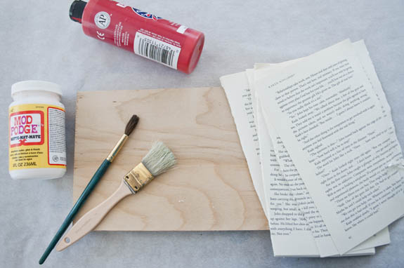 El Yapımı Romantik Duvar Tablosu Adım 1