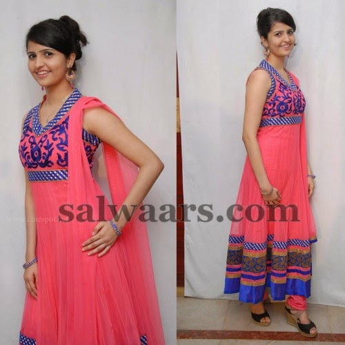 Raksha Shenon Peach Color Salwar
