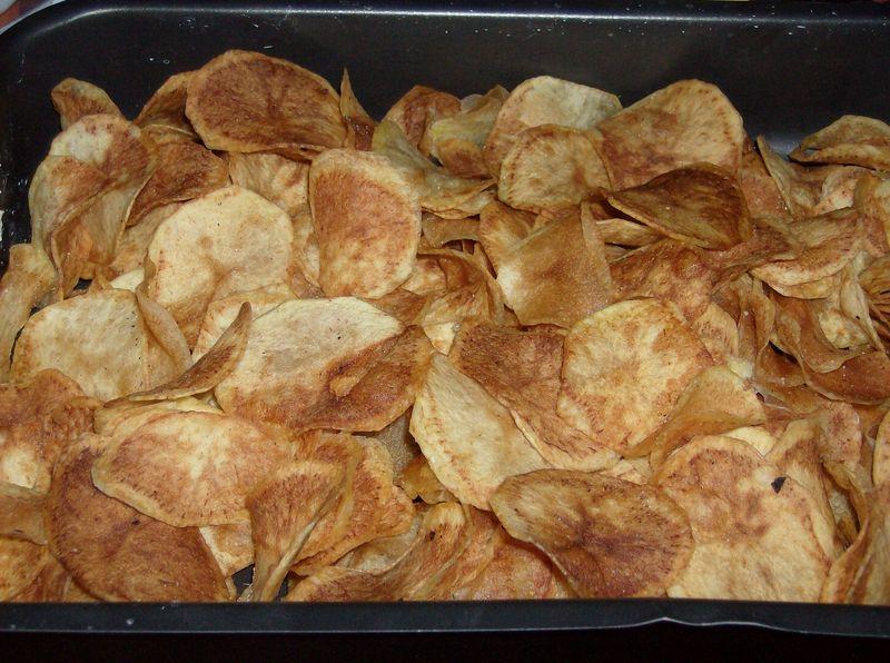 Audrey a dit craquer sans culpabiliser - Chips fait maison au four ...